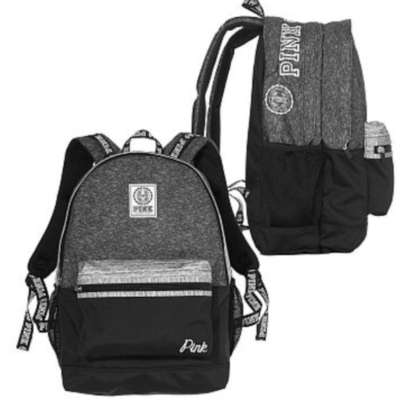 c50918e29f8e Victoria s Secret Pink Campus Backpack Black Grey.  M 5c4139a9409c158a00ae4f21
